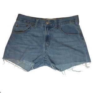 LEVI'S 505 Blue High Waisted Jeans Short Size 28